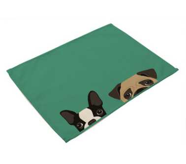 """Image 5 - CAMMITEVER 12 """"x 16"""" мультфильм кошки собаки ткань салфетка для закусочной вечерние рождественские принадлежности Свадебная столовая салфетка Хлопок Лен-in Столовые салфетки from Дом и животные"""