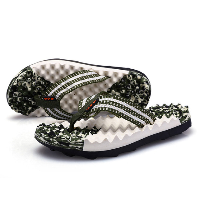 Summer New Massage Camouflage Men's Slippers Beach Shoes Tide Male Vietnam EVA Flip Flops Outside Men's Sandals Wholesale