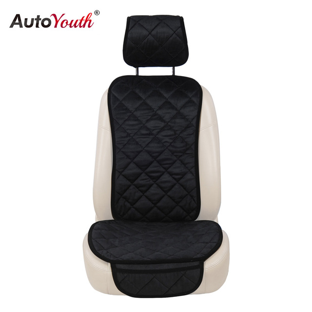 AUTOYOUTH Car Seat Cover Winter Diamond Pattern Auto Front Cushion Protector 4 Colors Warm