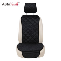 AUTOYOUTH Car Seat Cover Winter Diamond Pattern Auto Front Seat Cushion Protector 4 Colors Warm Cushion