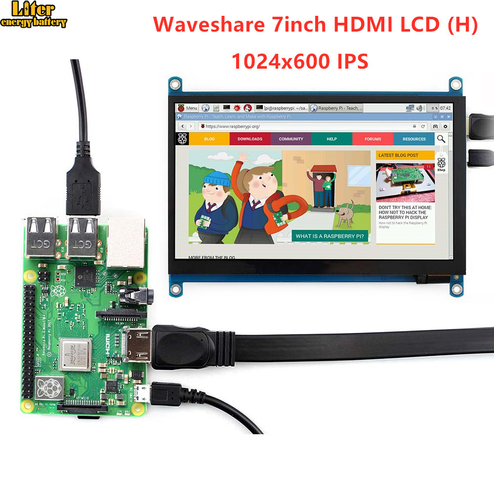 7 inch <font><b>HDMI</b></font> LCD (H) Tablet <font><b>Monitor</b></font> 1024x600 IPS Capacitive <font><b>Touch</b></font> <font><b>Screen</b></font> Supports Raspberry Pi BB Black Banana Pi etc image