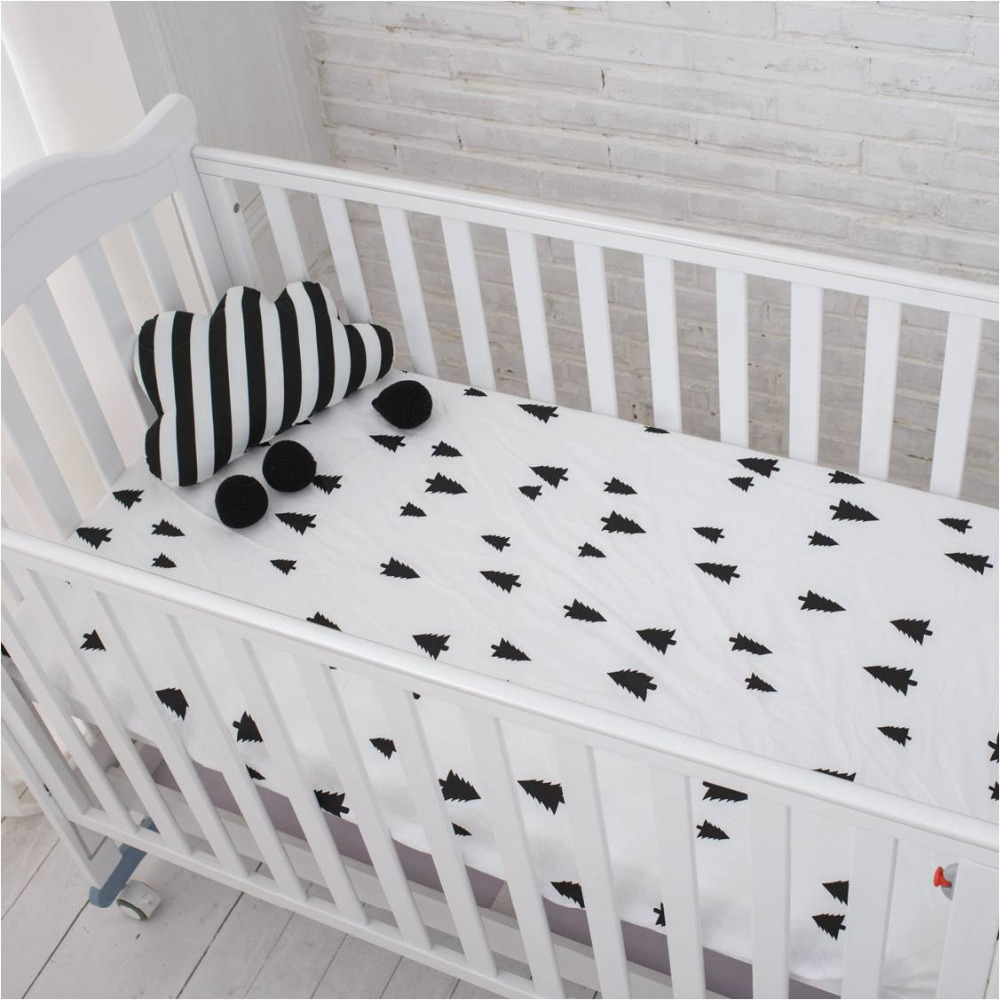 muslinlife cotton baby fitted sheet cartoon crib mattress protector