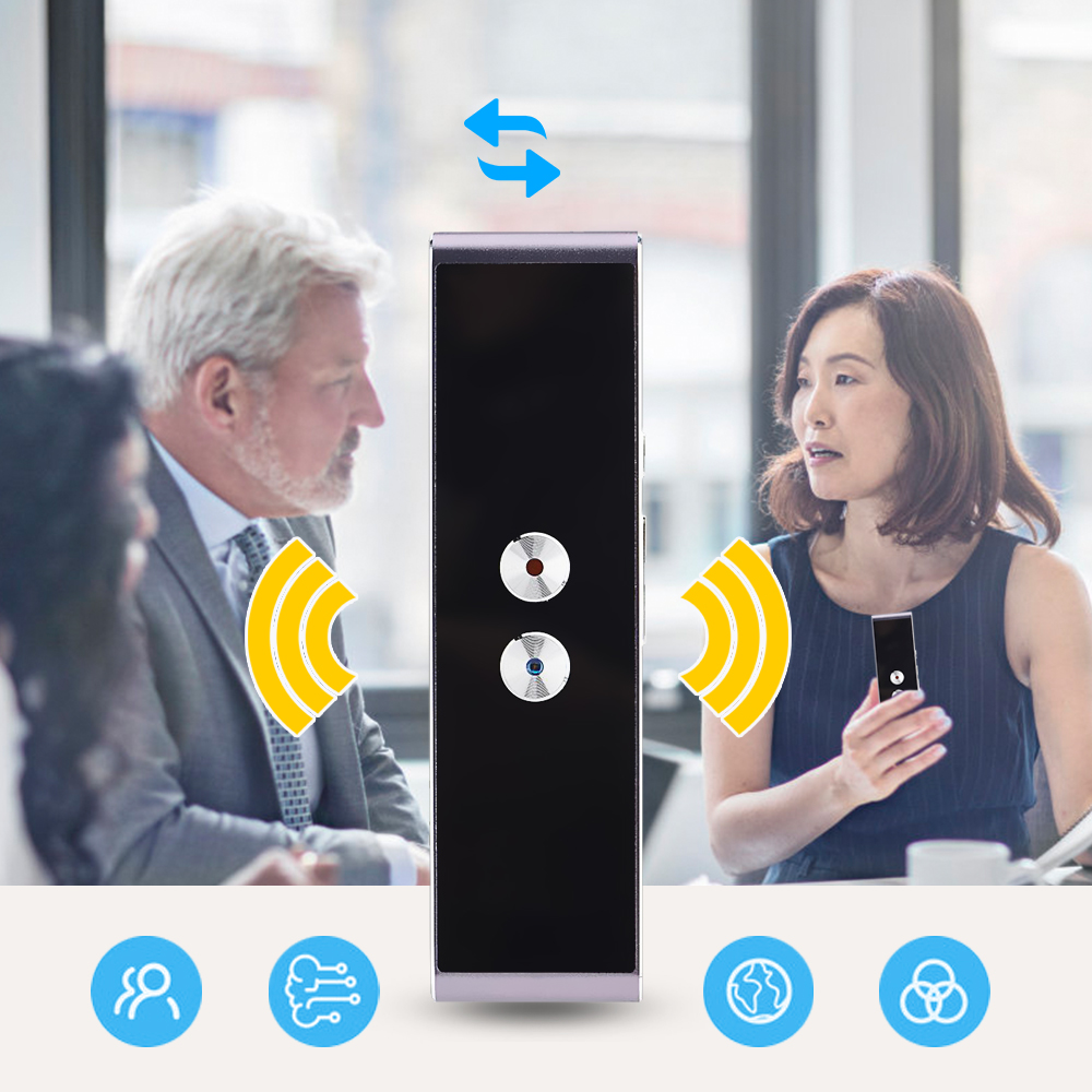 2.4g Optique Sans Fil Langue Traducteur Vocal Bluetooth Portable En Temps Réel Smart Traduction Traducteur Soutien 40 Langues