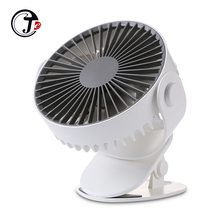 Portable Clip Fan USB Rechargeable Desk with 2000mAh Battery 3 Speeds and 360 Degree Rotation for Baby Stroller Home Office