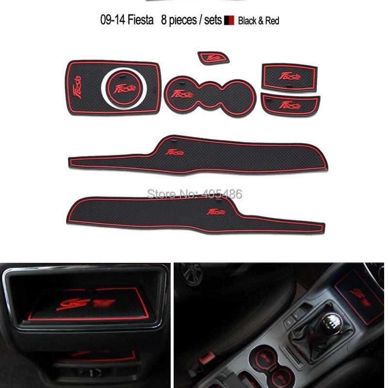 para Ford Fiesta 2009-2014 8 Alfombrillas de Goma para Puerta de Coche