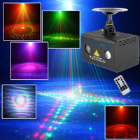 RGB LED DJ Disco Light Red Green Laser Show Projectors 20 Patterns Water Wave Effect Sound Activated Mesa De Som Professional