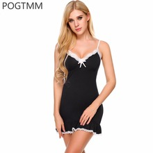 Summer Sexy Backless Nightshirt Women Lace Ruffle Short Nightgown Nightwear Female Cotton Sleepwear Nightdress Lingerie Chemise