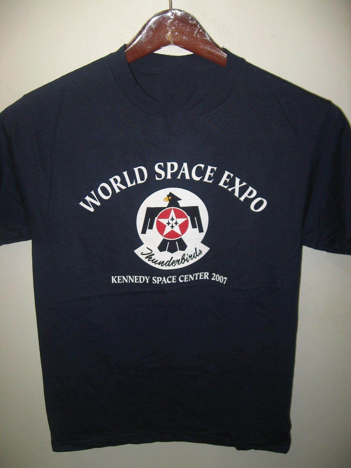 World Space Expo <font><b>USAF</b></font> Thunderbirds Jets Kennedy Space Center T <font><b>Shirt</b></font> tshirt new hip hop fashion top free shipping 2018 officia image