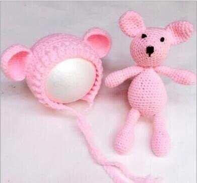 4c7e591f356 Online Shop baby Teddy Bear Hat Crochet NEWBORN Hat