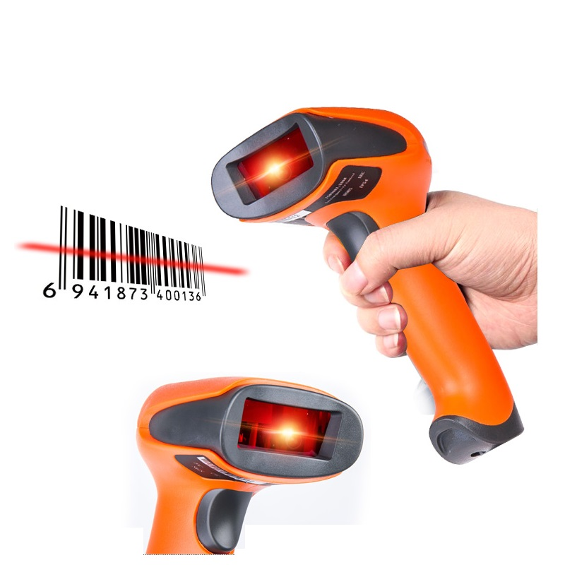 1D laser barcode scanner high quality portable barcode gun for warehouse logistics supermarket font b POS