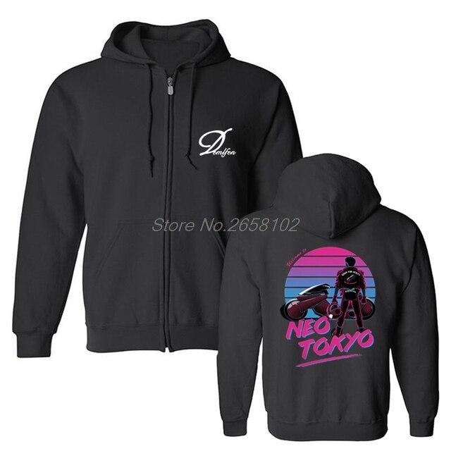 1fe77da30fee Welcome To Neo Tokyo Men Sweatshirts Akira Shotaro Motorcycle Funny Hoodies  Fleece Cotton Hooded Anime Coat Sweatshirt