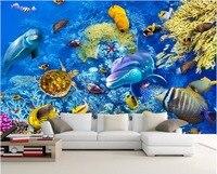 3d Wall Murals Wallpaper For Walls 3 D Photo Wallpaper Sea World Fish Coral Turtles Room