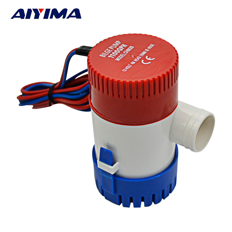 AIYIMA water pump 12V 24V pumps for boats Boat Marine Submersible 350GPH 750GPH 1100GPH Bilge 750gph 12v 24v dc submersible pump bilge pump cruise ship drain pump marine pump
