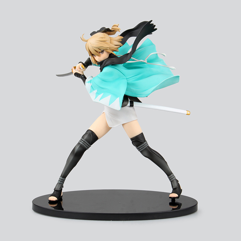 23CM High quality Edition Fate/Grand Order Saber PVC Action Figure Souji Okita Version Toy Collection Model Gift brinquedos bathroom shelves 5 towel hooks brass 2 tier rails towel bars wall shelf bath hangers bathroom accessories towel holder fe 8601