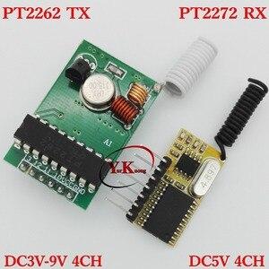 Дистанционный передатчик PT2262, приемник PT2272, 4-канальный, TX, DC5V, 4CH, декодирование RX, PCB, TTL, RF, модуль 315 МГц, мгновенный супергетеродинный