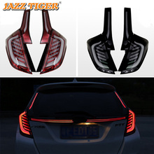 Car Styling For Honda Fit Jazz 2014~2018 LED Tail Light Tailight turn signal + Brake Light + Fog Lamp + Reversing light цена