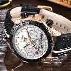 LIGE hommes montres Top marque de luxe automatique mécanique montre en cuir étanche Sport montre hommes Date entreprise horloge Reloj Hombre - 3
