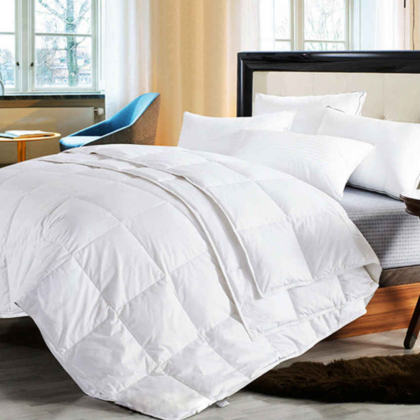 Peter Khanun Four Seasons Quillt White Goose Down Comforter Duvet Blanket  100% Cotton 6493f1e48