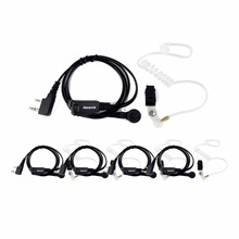 5PCS Retevis 2Pin Acoustic Tube Headset Walkie Talkie Accessorie For Kenwood For HYT For BAOFENG UV5R 888S Portable Radio C9010A