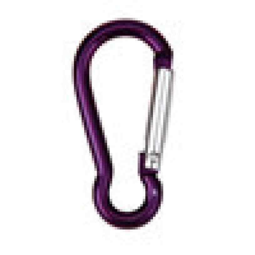 2 pièces en alliage d'aluminium D mousqueton ressort Snap Clip crochets porte-clés escalade attacher à une large gamme de points de fixation C0529 * 23
