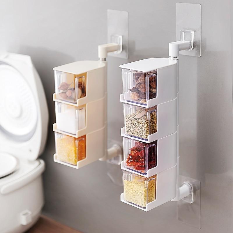 Mode Steektype opknoping roterende kruiderij doos kruiden doos gratis - Home opslag en organisatie
