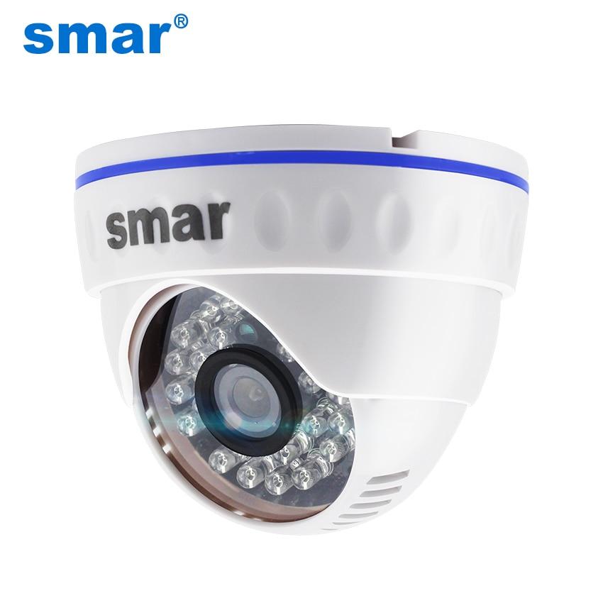 Smar Câmera de Vídeo em Rede H.264 Câmera Dome IP 1MP 1.3MP 2MP 24 LED Infravermelho 10-15M de Distância do IR home Security ONVIF POE Opcional