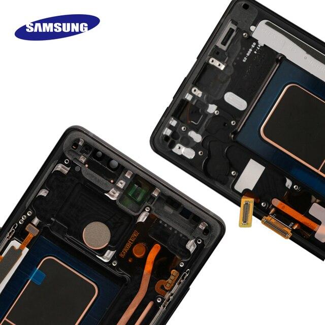 """Novo 6.3 """"original super amoled display para samsung galaxy note8 lcd n950 n950f tela de toque peças reposição + quadro 5"""