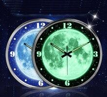 Mágico luminosa estrella de la luna reloj de pared estrella personalidad reloj de pared salón dormitorio universo reloj