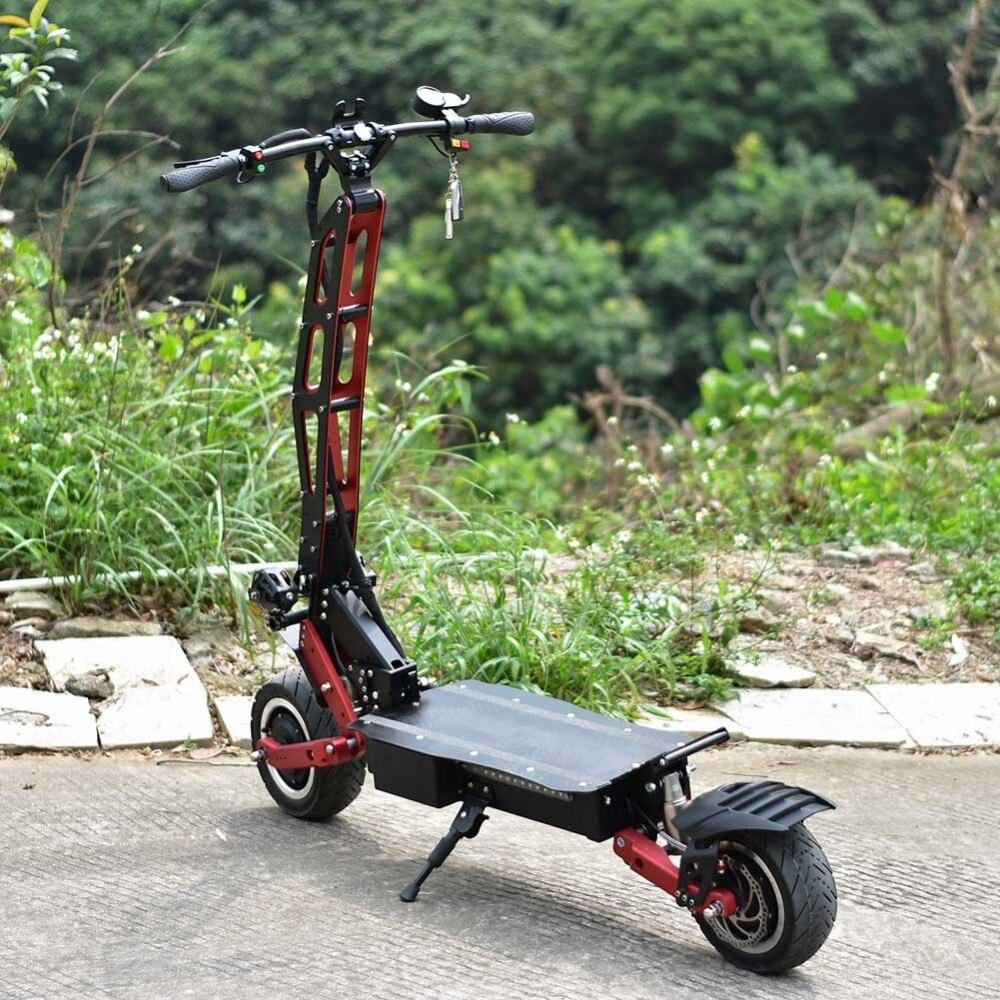 C scooters électriques puissants de moteur de la suspension 2000 W 3200 W 2 adultes vitesse rapide de 85 KM/H avec la bande latérale de frein à huile lumière LED