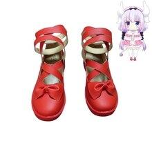 New Anime Miss Kobayashis Dragon Maid Kanna Kamui Cosplay Shoes Girls Red Lolita Halloween Size 35-43