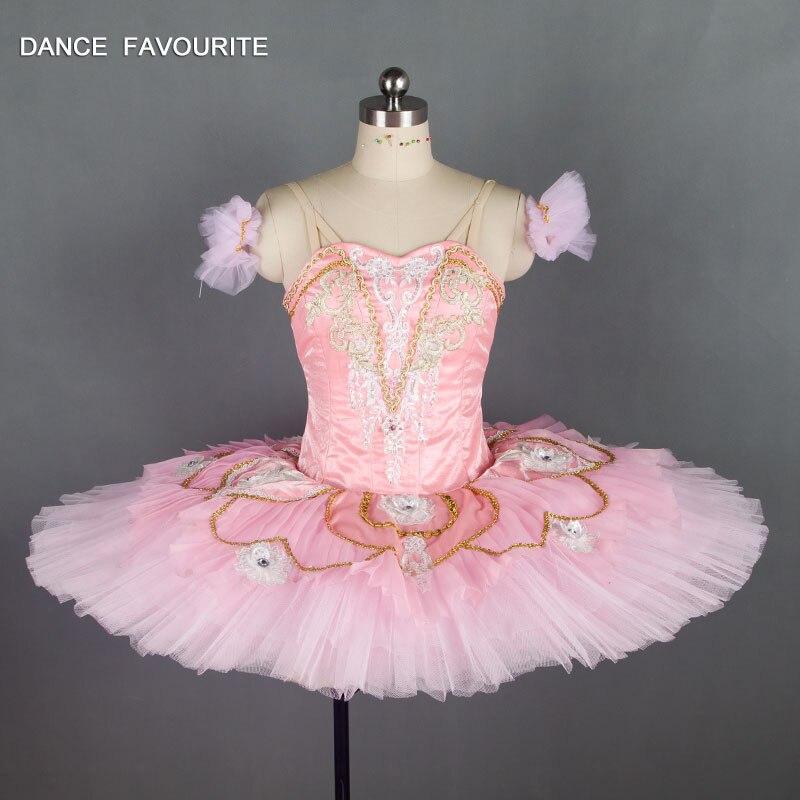Pink Satin bodice professional ballet tutu Customer size dance costumes ballerina dance tutu Sleeping Beauty Ballet Tutu
