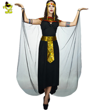 Ancient Egyptian Queen Costumes Pharaoh Empress Cleopatra Queen Priest Halloween Cosplay Clothing for Women's Fancy Dress