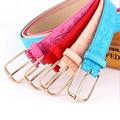 [Himunu] 2016 Hot New Fashion Imitation Leather Women's Thin Belt Wild Dress Color Black Red Yellow Blue White Belts for Women