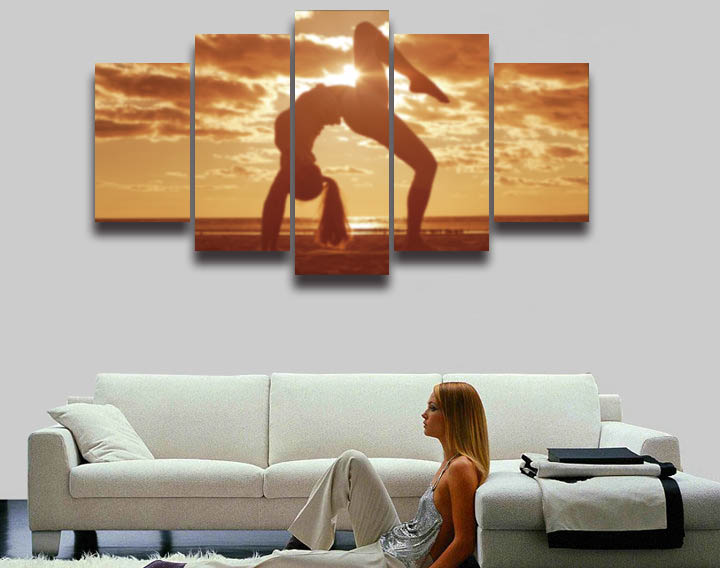 2016 fallout sexy girl yoga exercise sunset seascape for 10x20 living room