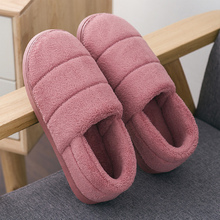 Winter women slippers Plus size 42-44 Suede Package Warm Indoor shoes for girls Anti skid Wear resistant House slippers women цены онлайн