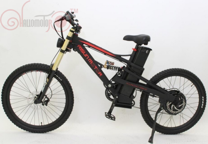 ConhisMotor 48V 1500W Mustang Mountain eBike 18Ah Electric Bicycle Lithium Battery Electric Bicycle Zoom Triple Crown Fork image