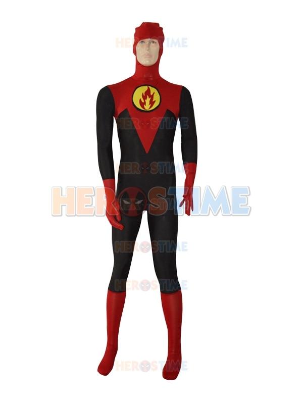 Custom Made Frozone Fire Costume Mens Superhero Costume Male Spandex Tight Zentai Suit male/female/kids Cosplay Costume