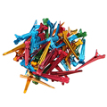 50Pcs 50mm Flat Metal Colorful DIY Crocodile Alligator Fix Hair Accessories Hairdressing Section Clips Holding Hair Styling Tool