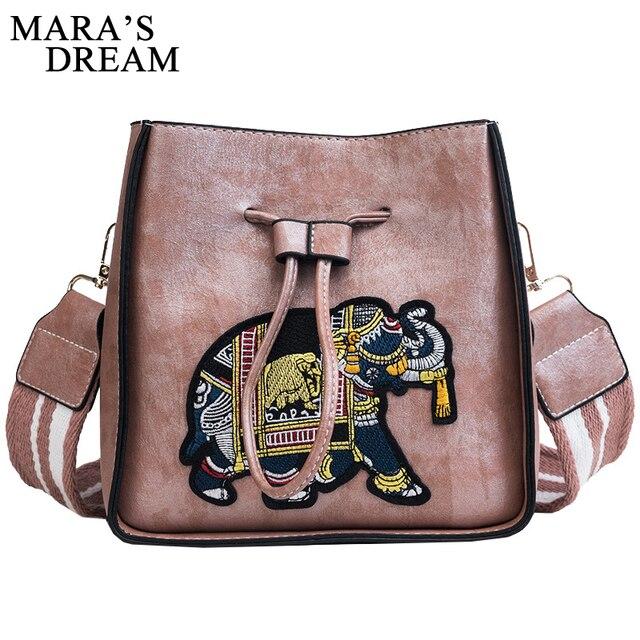 Mara s Dream Women Bag PU Leather Handbag Girls Vintage Elephant Lady  Crossbody Messenger Bags Famous Brand fb1f39e709fe6