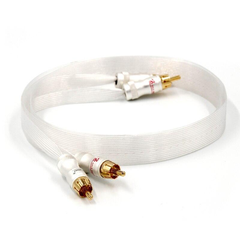 Livraison gratuite Nordost argent plaqué câble Bleu Wgite Heven roi serpent Plaqué Or RCA câble d'interconnexion