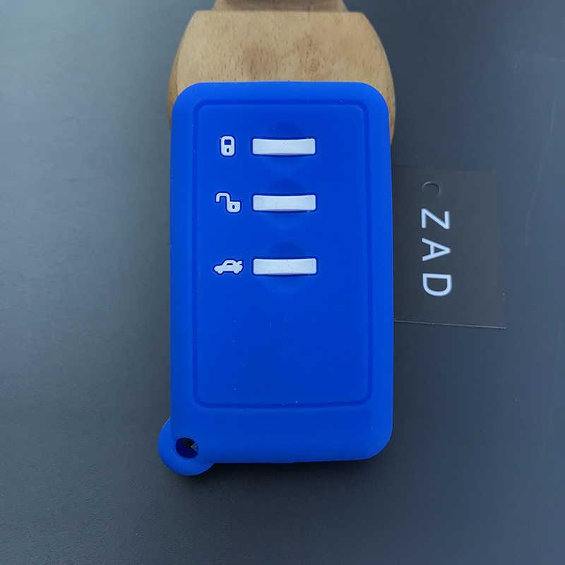 Etui clés de voiture en Silicone ZAD pour SUBARU Forester Impreza Legacy XV Smart 3 boutons porte-clés accessoires de style de voiture