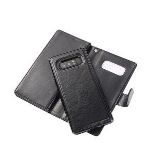 Image 2 - Sang Trọng Từ Flip Cover Dành Cho Samsung Galaxy Note 8 S9 Plus Ốp Lưng Ví 9 Thẻ Galaxy Note8 S9 Sổ Da fundas Điện Thoại Vỏ