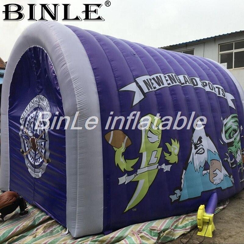 Tienda de campaña de túnel inflable gigante para exteriores personalizada carpa de entrada inflable de cúpula de aire de color para eventos deportivos