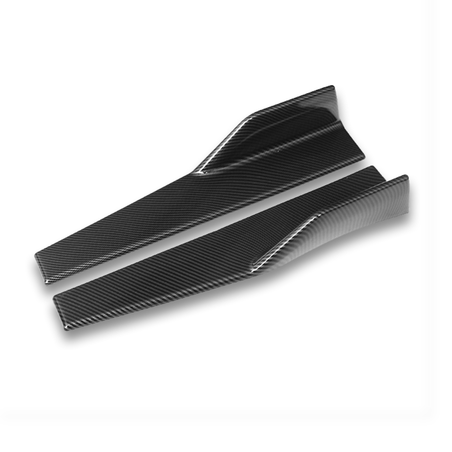 Universal 2X Carbon Fiber Color Car Side Skirt Spoiler Rocker Splitters Anti-scratch Winglet Wings Canard Diffuser SpoilerUniversal 2X Carbon Fiber Color Car Side Skirt Spoiler Rocker Splitters Anti-scratch Winglet Wings Canard Diffuser Spoiler