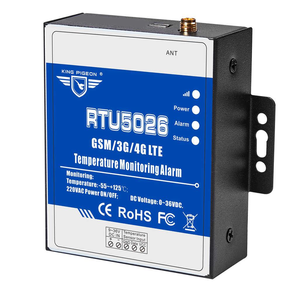 GSM Телеметрия мониторинг температуры сигнализация измеряющая-55 до 125 градусов по Цельсию Поддержка удаленного сброса перезагрузки по SMS RTU5026
