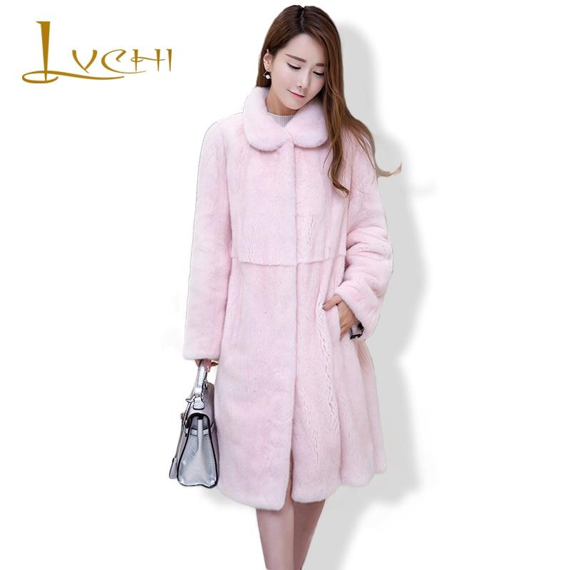 LVCHI Qadın tunikalı moda köynək paltoları Təbii dəri polo - Qadın geyimi - Fotoqrafiya 1