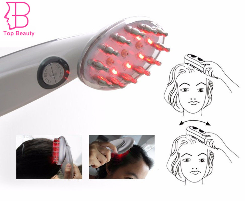 TOP BEAUTY Hair Growth Laser Comb BIO Photon Treatment Anti Hair Loss Regrowth Brush Products