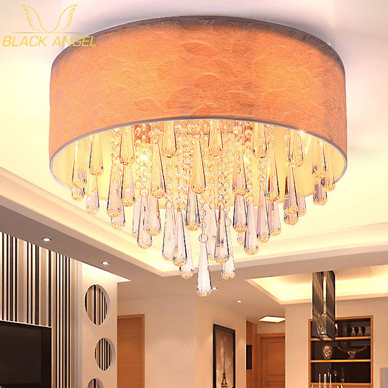 Indoor living room ceiling light for modern crystal fabric for Decoration 30m2
