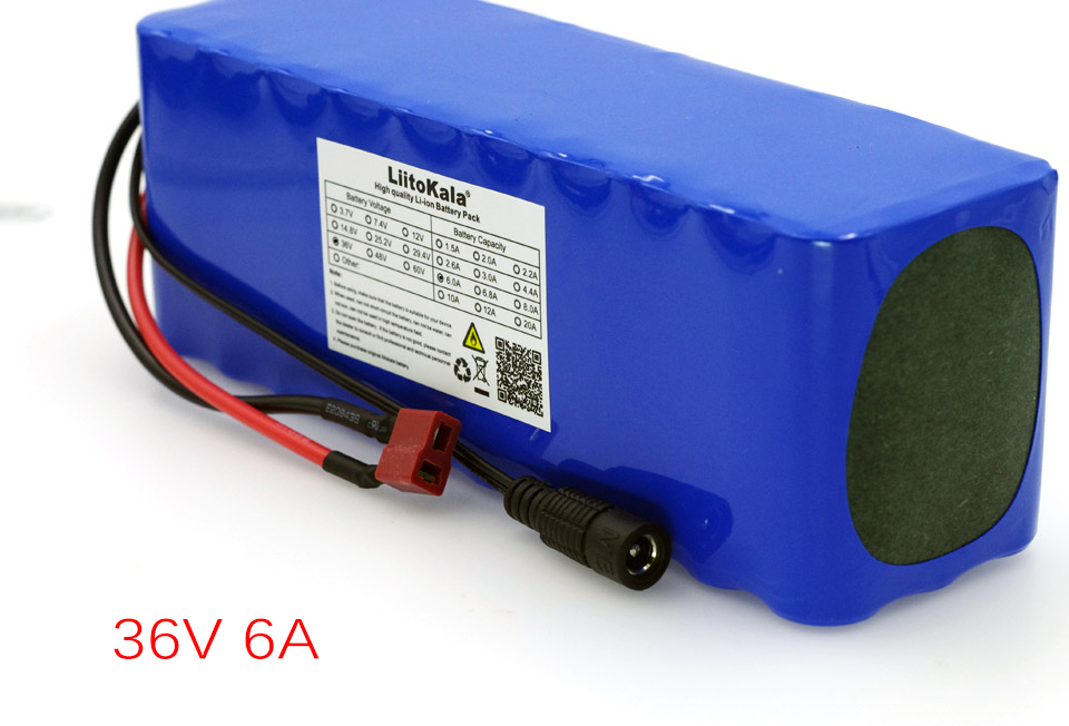 LiitoKala 36V 6Ah 10S3P 18650 Rechargeable Lithium ion Battery Pack with BMS Protection DIY Battery for E-bike Electric Vehicle 12v 150ah lithium ion battery pack for electric bike or motor slide board vehicle led ligths ups with 5a charger and 30a bms