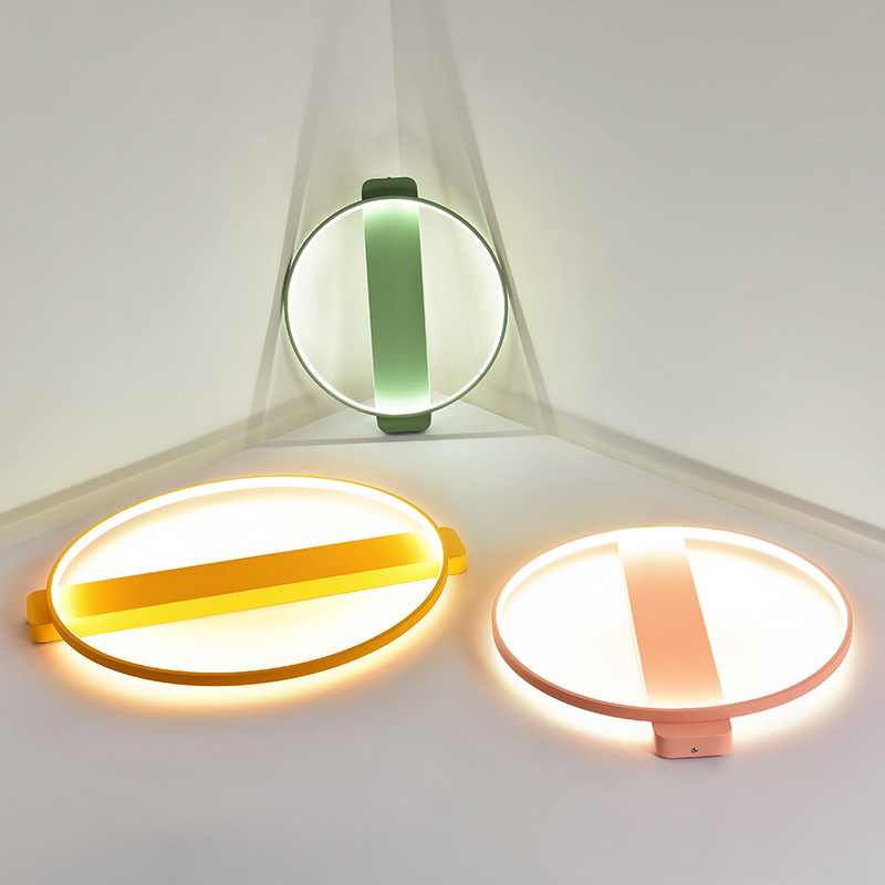 Modern LED ceiling lights home Macaron Fixtures children bedroom ceiling lamps Nordic Iron Round wall lighting